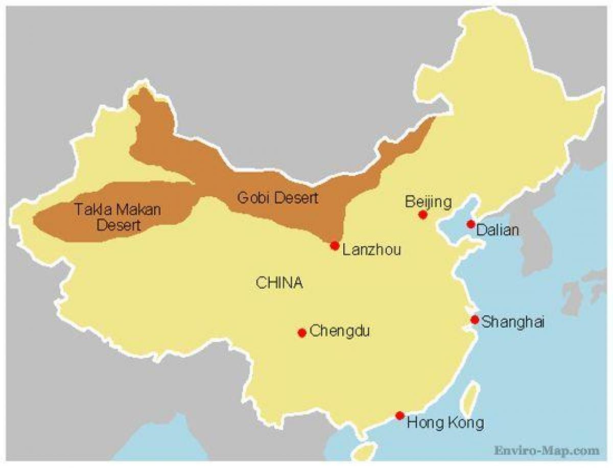 wüste gobi karte China Wüste gobi map   Karte von China gobi Wüste (Ost   Asien, Asien)