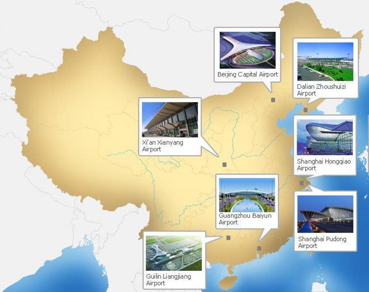 flughäfen china karte Chinesische Flughäfen Karte   Karte der Flughäfen China (Ost