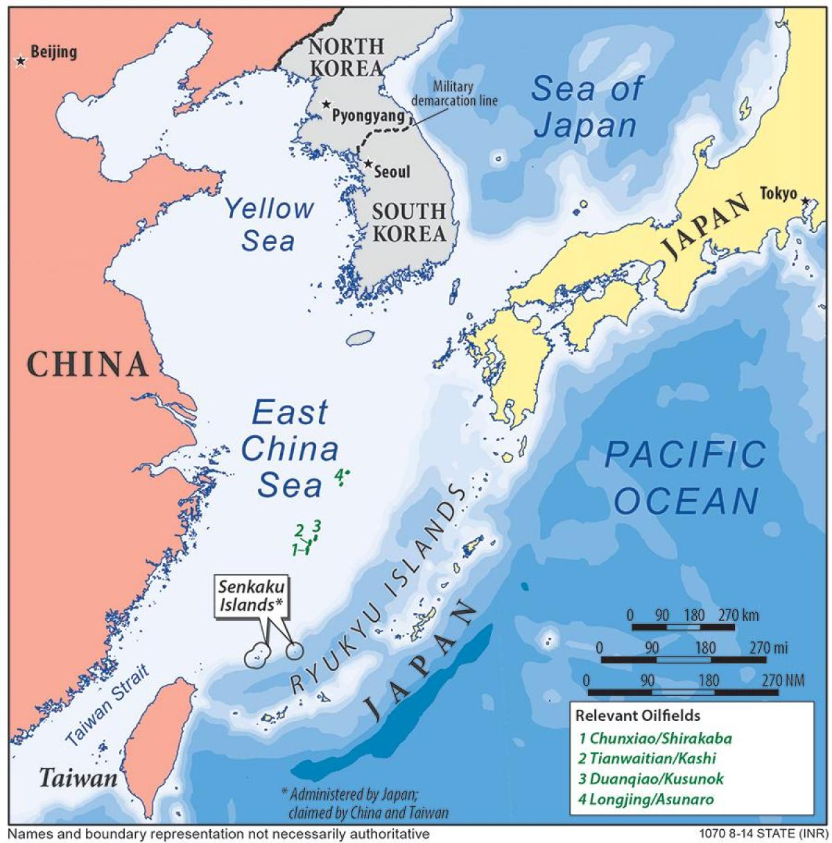 East China sea-map - Karte von Ost-China sea (Ost - Asien, Asien)