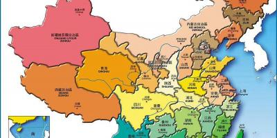 Karte China Provinzen